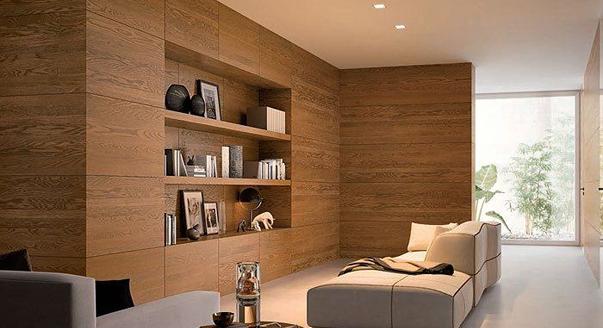 Декорирование стен листовыми панелями