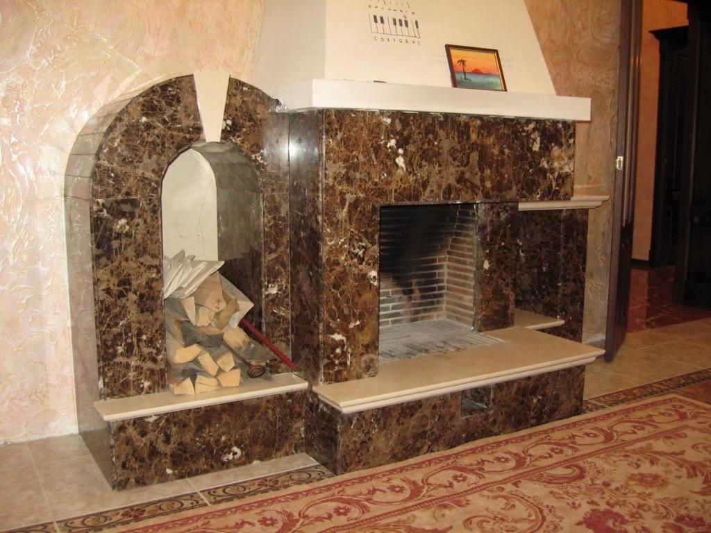 Преимущества каминной облицовки мрамором или гранитом