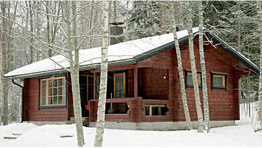 домов из бруса в зимний период