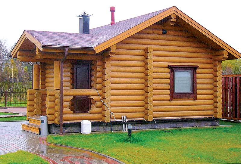 Планировка деревянной бани