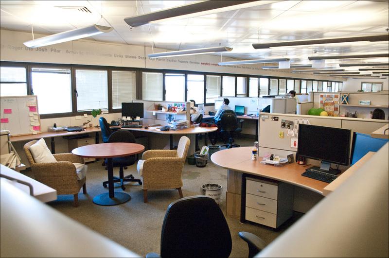 Проблема разделения рабочих зон в офисе
